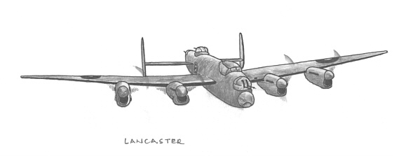 Lancaster - Art by Vic Campden MBE