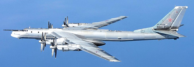 Russian Tu-95 longe range bomber adapted for espionage missions