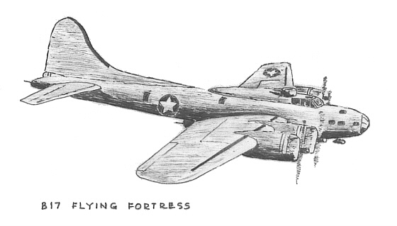 B17 - Flying Fortress - Art by VicCampden MBE