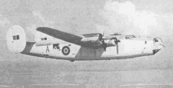 A B24 Liberator, similar to aircraft flown back from India by Doug Connor
