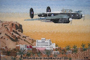 Tapestry of a Bristol 'Brigand' of No. 8 Squadron in 1951