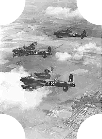 Lancasters of No.207 Squadron over Cranwell, 16th June 1942.