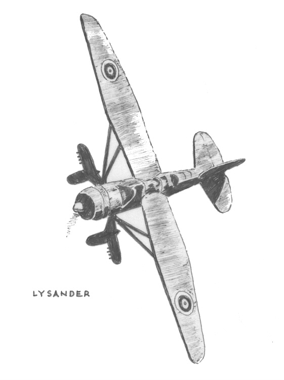 Lysander - Art by Vic Campden MBE