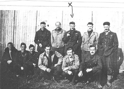 Iain MacDonald with POW group in Stalag Luft 3